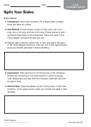 Split Your Sides Biology Worksheet