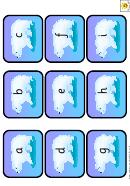 Mini Polar Bear Alphabet Cards Template - Lowercase Letters