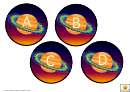 Saturn Alphabet Cards Template - Uppercase Letters