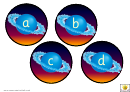 Saturn Alphabet Cards Template - Lowercase Letters
