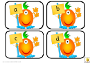 Funny Alien Alphabet Cards Template - Lowercase Letters