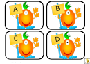 Funny Alien Alphabet Cards Template - Uppercase Letters