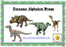 Dinosaur Alphabet Frieze Template