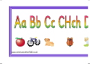 Simple Welsh Alphabet Banner Template