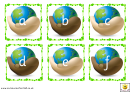Eco Alphabet And Phonics Cards Template - Lowercase Letters