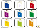 Little Books Alphabet And Phonics Cards Template