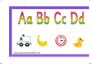 Simple Alphabet Banner Template