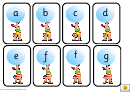 Circus Alphabet And Phonics Cards Template - Lowercase Letters