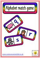Alphabet Match Game Template