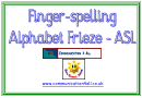 Finger-spelling Alphabet Frieze Template - Asl