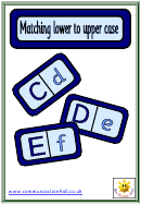 Matching Lower To Upper Case Game Template