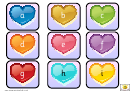 Mini Hearts Alphabet And Phonics Cards Template