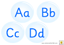 Bubbles Alphabet Template