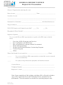 M&o Form 1 - Request For Presentation - Sba Form