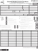 Form It-201-x - Amended Resident Income Tax Return - 2012