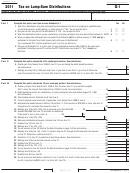 California Schedule G-1 - Tax On Lump-sum Distributions - 2011