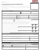 Principal Residence Exemption (pre) Affidavit