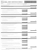 Schedule 500cr - Credit Computation Schedule - 2013