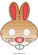 Brown Rabbit Mask Template
