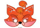 Funny Red Fox Mask Template