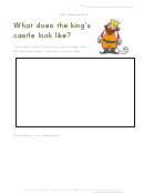 What Does The King's Castle Look Like - Writing Worksheet