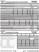 California Schedule B (form 100s) - S Corporation Depreciation And Amortization - 2011