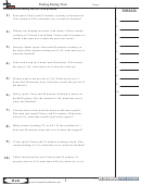 Finding Ending Time Worksheet Template With Answer Key