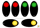 Traffic Light Template - Black Background