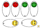 Traffic Lights With Faces Template