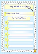Key Word Identifier Template