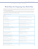 Worksheet Template For Preparing Your Birth Plan With Samples