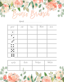 Bunco Brunch Game Card Template