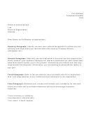 Sample Cover Letter Template Set