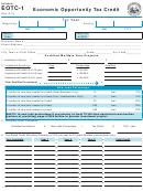 Schedule Eotc-1 - Economic Opportunity Tax Credit