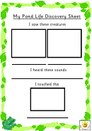 My Pond Life Discovery Sheet