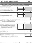 California Form 3801 - Passive Activity Loss Limitations - 2011