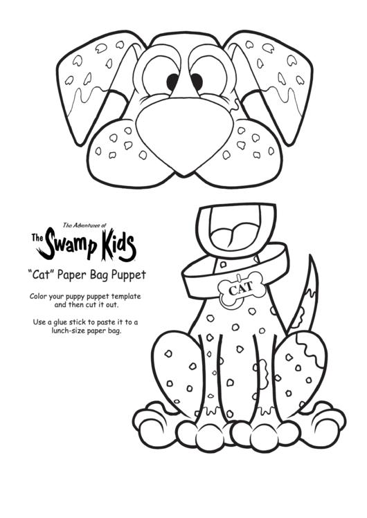 u0026quot cat u0026quot  paper bag puppet template printable pdf download
