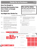 Form Dr-15mo - Out-of-state Purchase Return - Florida Department Of Revenue