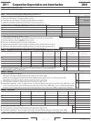 California Form 3885 - Corporation Depreciation And Amortization - 2011