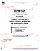 Form Dr-309636 Sample - Terminal Operator Information Return - 2015