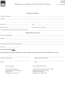 Form Dr-42e - Application For Extension Of 90-day Decal To 180 Days