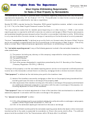 Instructions For Form Tsd-389 - West Virginia Withholding Requirements For Sales Of Real Property By Nonresidents