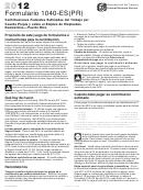 Formulario 1040-es(pr) - Comprobante De Pago - 2012