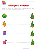 Christmas Tracing Straight Lines Worksheet