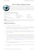 Sample Support Letter