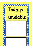 Schedule Template - Today's Timetable