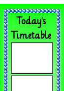 Today's Timetable Schedule Template
