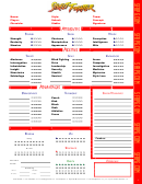 Street Fighter Character Sheet