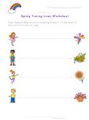 Spring Tracing Lines Worksheet