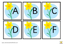 Flower Style English Alphabet Chart